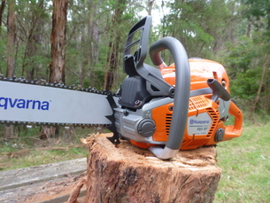 New modern chainsaws for all training courses on chainsaw use and safety
