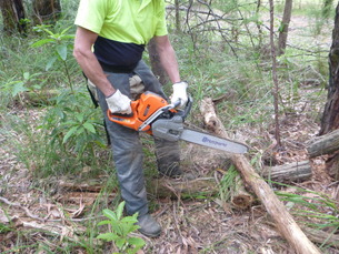 Safe use and maintenance of chainsaws, Melbourne based course