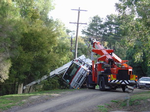 Elevated Work Platform (EWP)  Rollover, recovery with crane