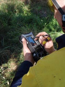 Collecting data with a handheld GPS unit